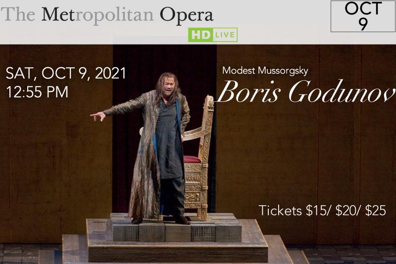 Boris Godunov - October 9, 2021